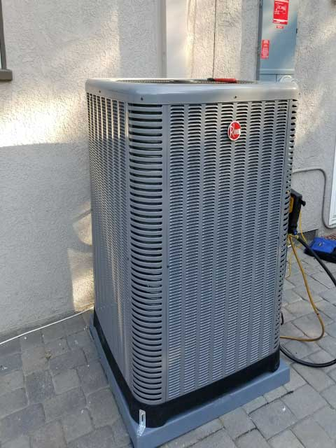 Rheem 16 SEER Condenser Install By Comfort Time