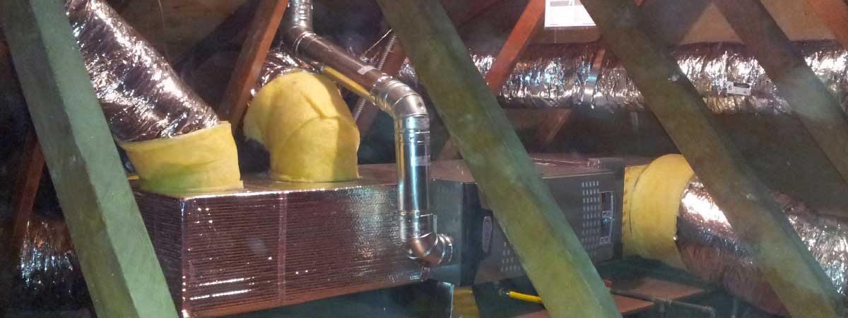 horizontal furnace installation with new ducts