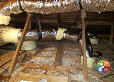 Air Duct Installation In Attic