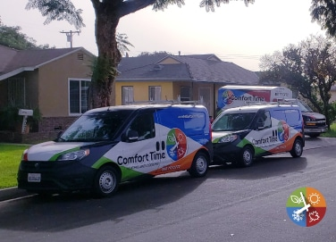 air conditioning and heating service repair trucks