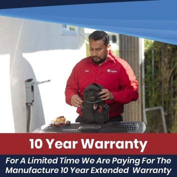 10 Year Parts & Labor Warranty