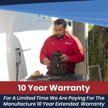 10 Year Parts & Labor Warranty